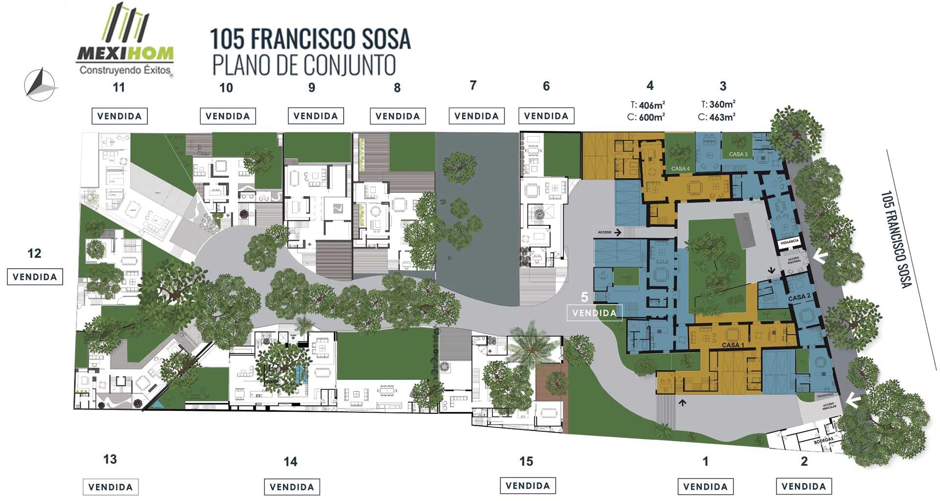 Residencias en venta en Coyoacán 105 Francisco Sosa Mexihom